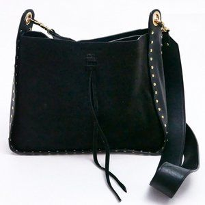 VINCE CAMUTO Bag Black Suede Enora Crossbody